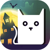 Halloween Cat: Ghost & Pumpkin 1.0