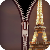 zipper lock screen Paris 1.0