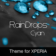 RainDrops Premium Cyan Theme 1 0 3 APK Download - Android