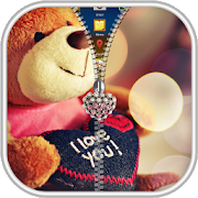 Teddy Bear Zipper Lock Screen 36 8 Apk Download Android