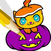 Halloween Book Coloring Pages 1.1.2