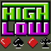 Retro Pixel High Low Card Game 1.0