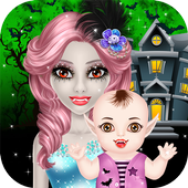 Halloween Mommy & Newborn Baby 1.0