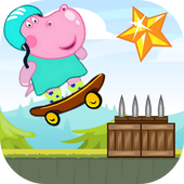 Hippo Peppa Kids Skateboard 1.0