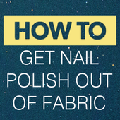 Get Nail Polish Out Of Fabric 1.0