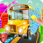 Kids School Bus Wash Salon 1.0