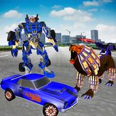 Furious Lion Car Transform Robot Strike Army 5