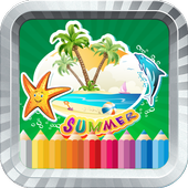 Kids Coloring Summer
