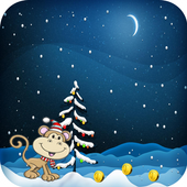 Monkey Christmas Running Games 1.0