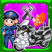 Police Motorbike Wash Salon 1.0