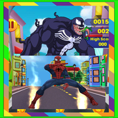 Subway Spider Hero vs Spider Black Avengers 2.3