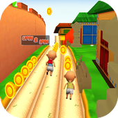 Upin run Ipin Surfer 1.3