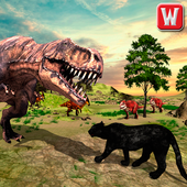 Wild Black Panther VS Dinosaur Survival Simulator 1.0