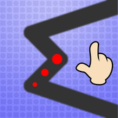 Tap and turn on zigzag line 1.0.1