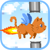 Pixel Cat Can't Fly