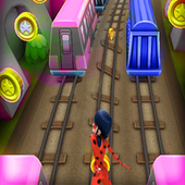 Subway LadyBug in City Game 1.0