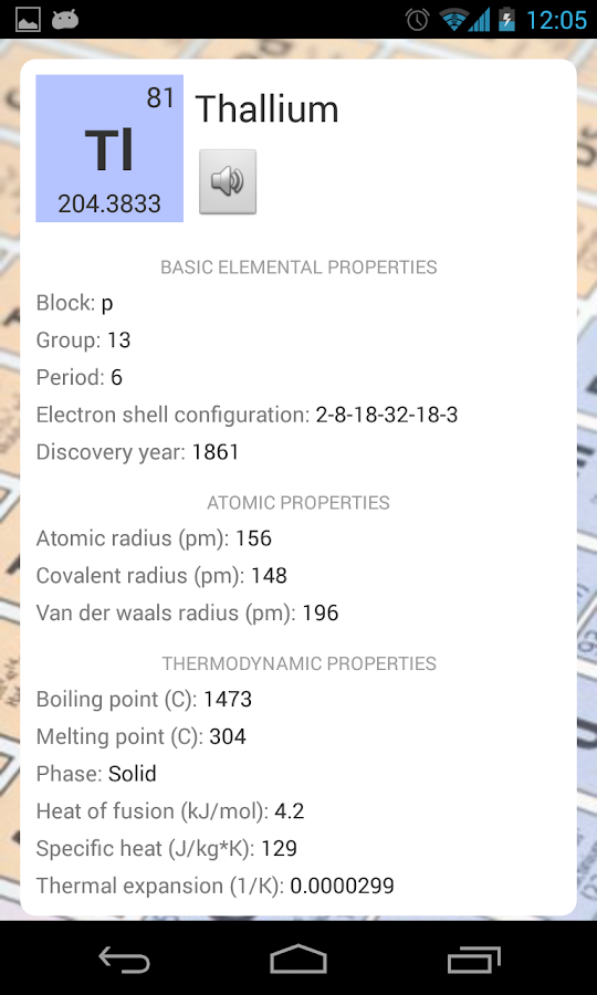 Periodic table periodic table of elements apk free download periodic table 230 apk download android books reference apps urtaz Images