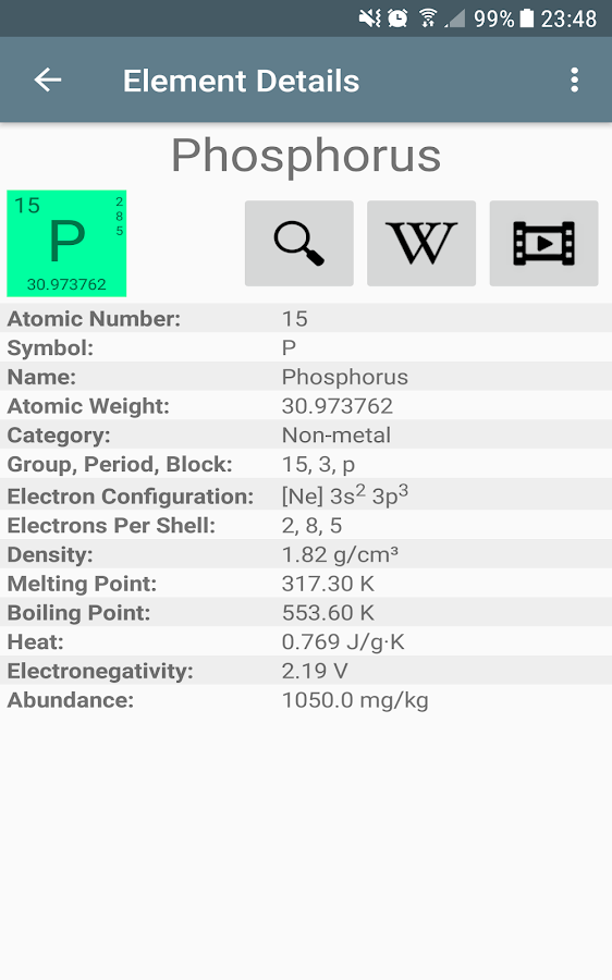 Periodic table of elements pro 20 apk download android periodic table of elements pro 20 screenshot 13 urtaz Gallery