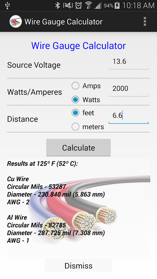 Wire gauge calculator 140 apk download android tools apps wire gauge calculator 140 screenshot 1 greentooth Choice Image