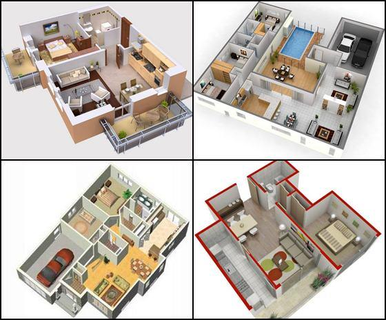 3d small house plans idea 1 0 apk download android for Architecte 3d plan maison architecture