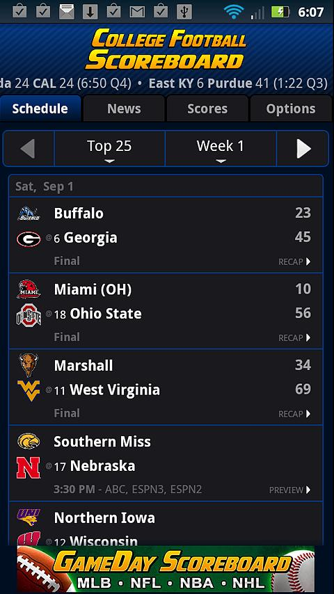 College Football Scoreboard 4.1.11 APK Download - Android ...