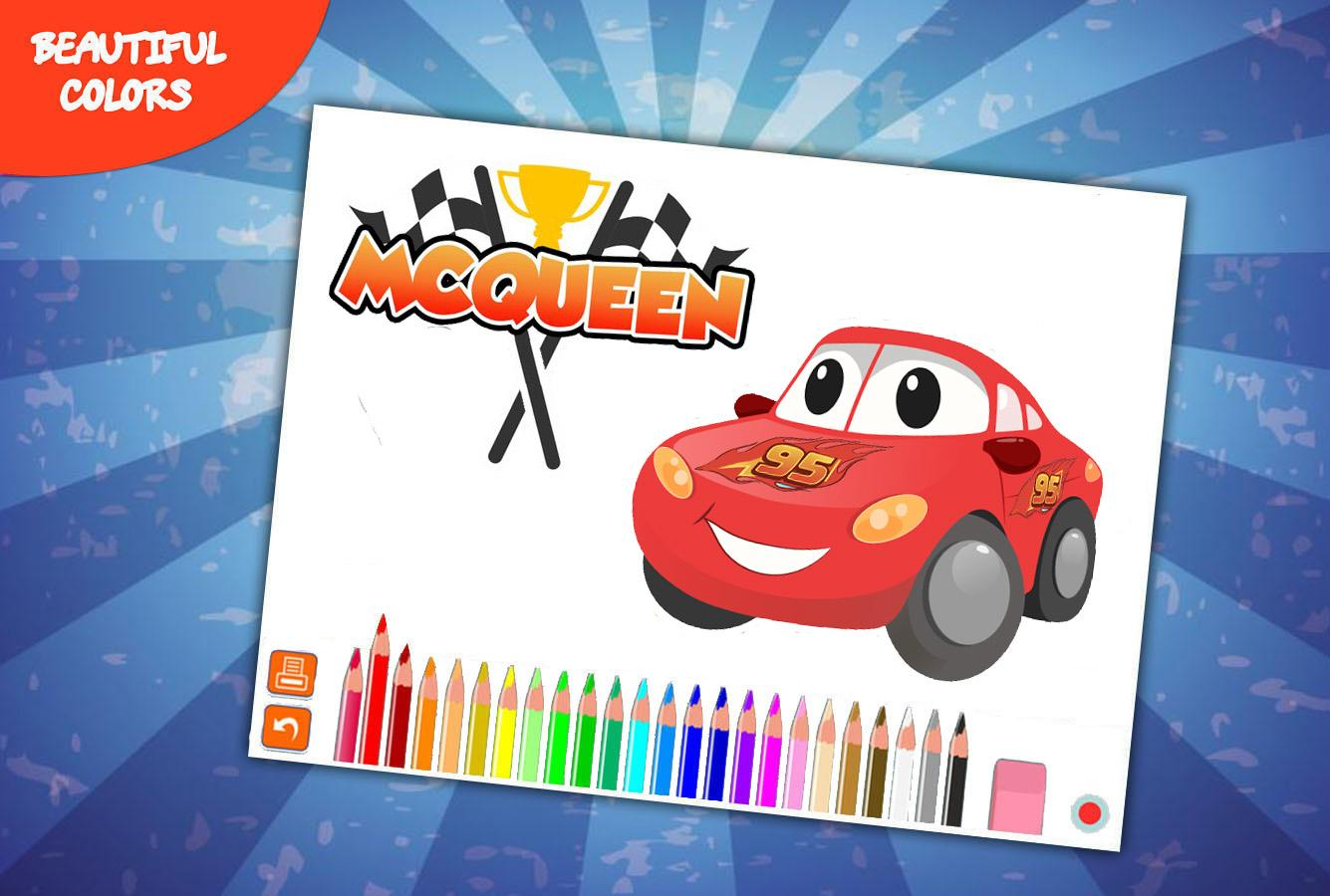 Coloring car games -  Mcqueen Coloring Car 4 0 Screenshot 6