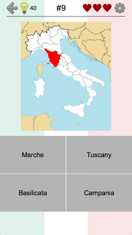 Map Of Italy Regions And Capitals.Italian Regions Flags Capitals And Maps Of Italy 2 0 Apk Download