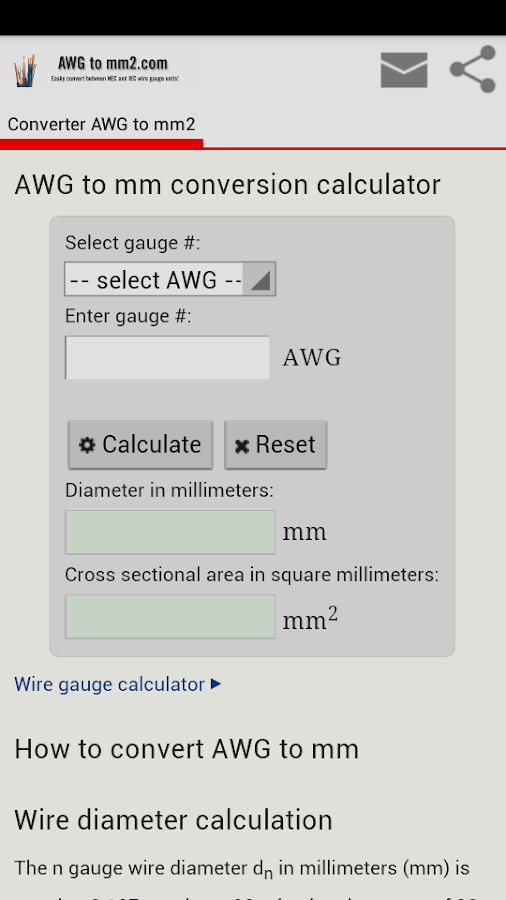 Conversion awg to mm2 3 apk download android education apps conversion awg to mm2 3 screenshot 1 greentooth Choice Image