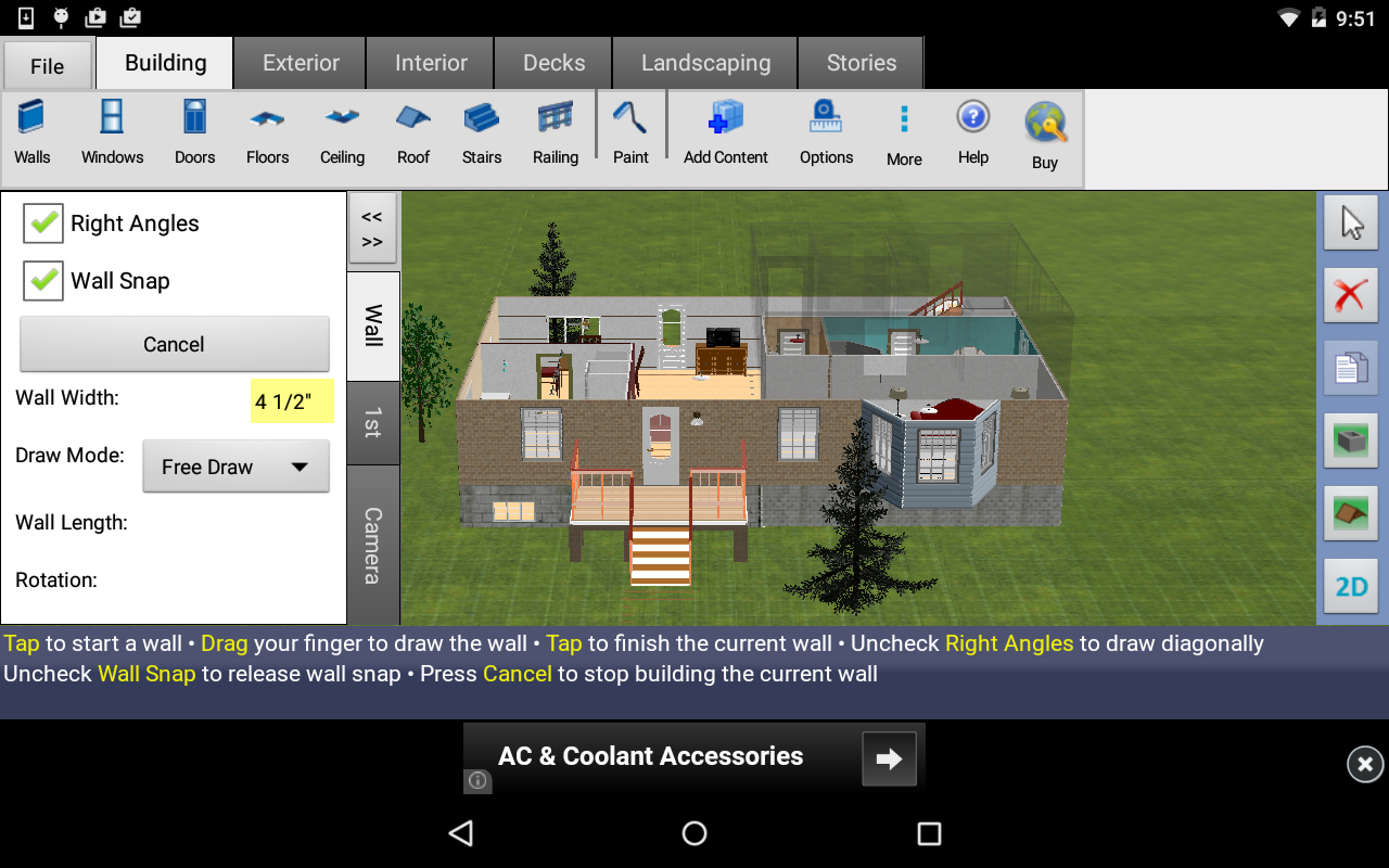 Dreamplan home design free apk download android for Home decorating app