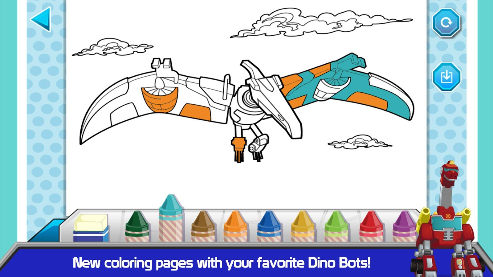 Free rescue bots coloring pages -  Transformers Rescue Bots Dino 2 0 Screenshot 5