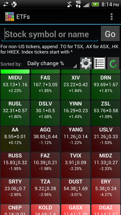 Real Time Stock Quotes Beauteous Realtime Stock Quotes & Tiles 1.95 Apk Download  Android Finance Apps