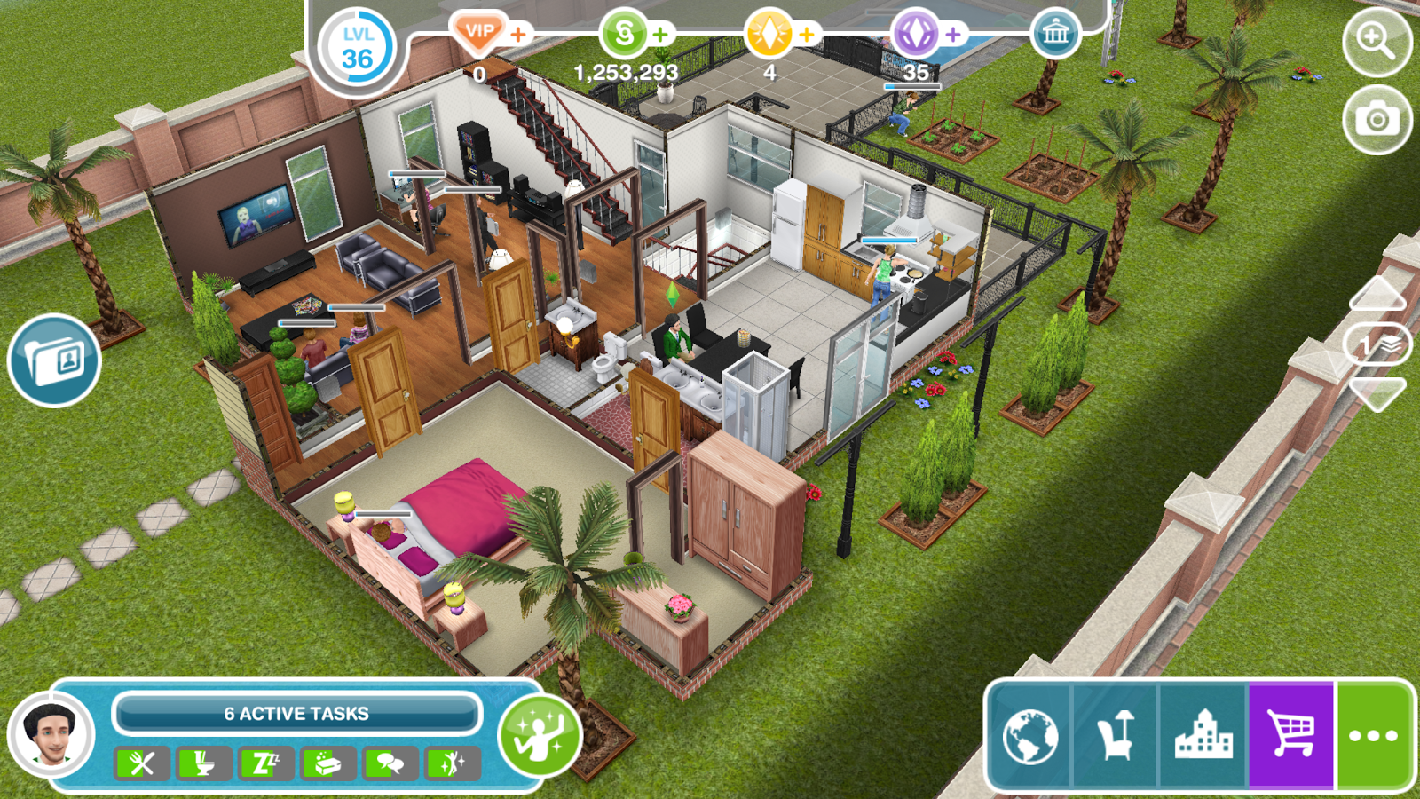 the sims freeplay apk download android simulation. Black Bedroom Furniture Sets. Home Design Ideas