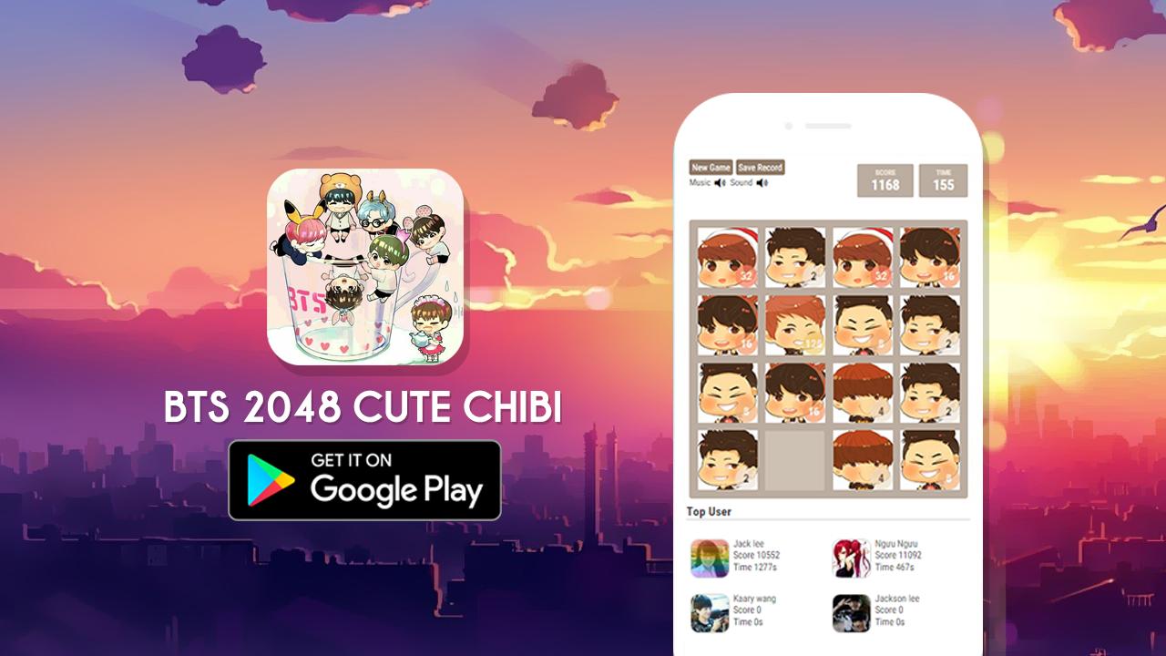 Google themes exo chibi -  2048 Bts Chibi Version 1 1 Screenshot 2