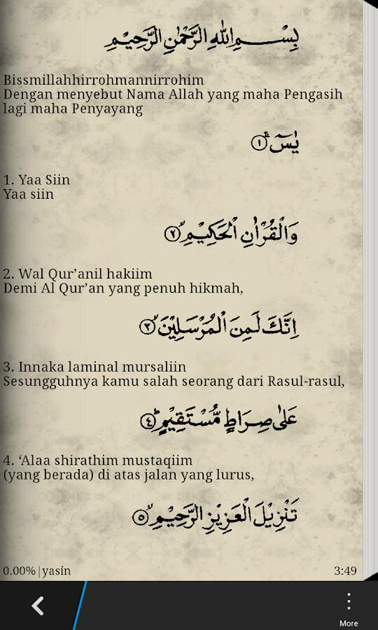 Download Bacaan Surat Yasin Dan Terjemahan Quikxsonar