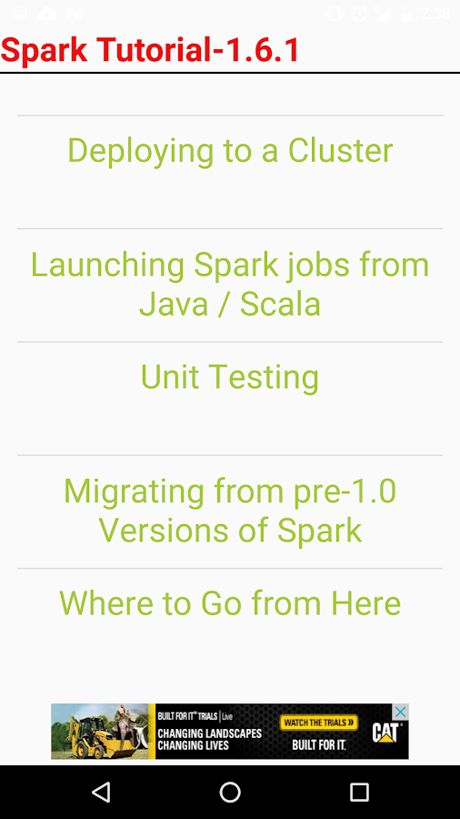 Spark Tutorial 1 1 APK Download - Android Education Apps