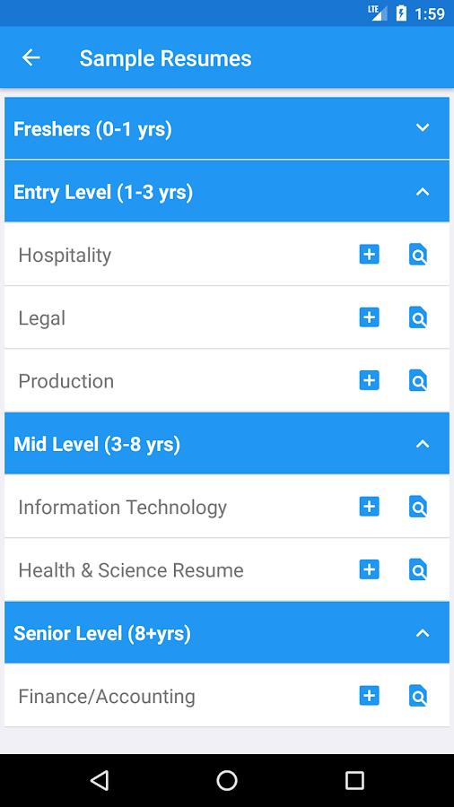 resume builder pro 5 minutes cv maker templates 4 0 2 apk