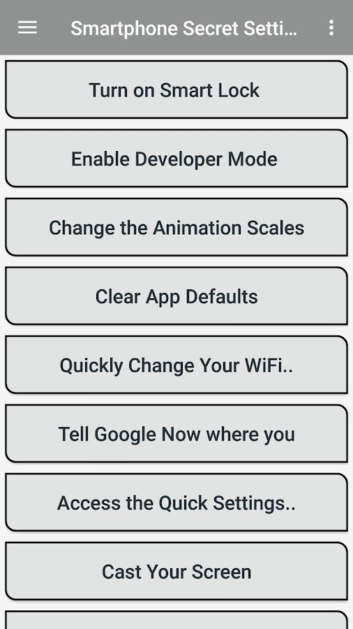 دانلود Android Secret Settings Guide 5 0 0 APK - برنامه های سرگرمی