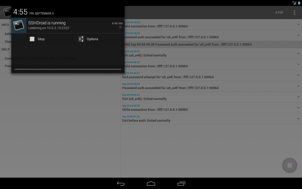 SSHDroid 2.1.2 APK Download - Android Tools Apps