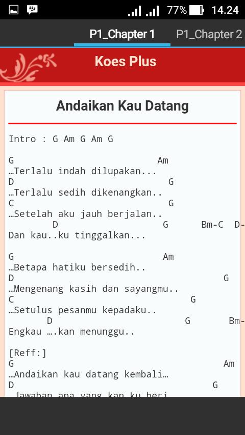 Chord Lagu Koes Plus 1 1 Apk Download Android Books