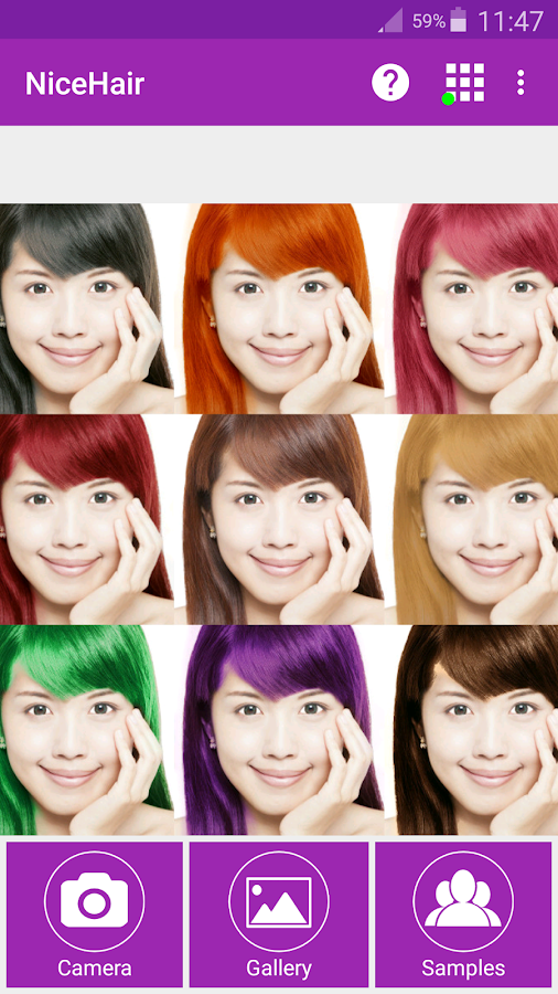 NiceHair Hair Color Changer APK Download Android Photography Apps - Hairstyle colour app