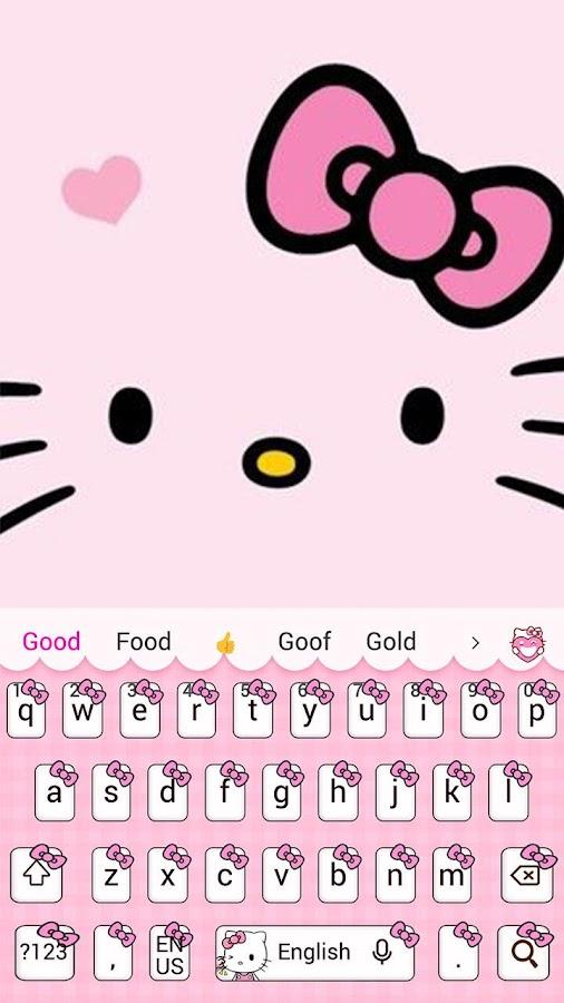 Pink Cute Kitty Cartoon Keyboard Theme 10001004 APK Download