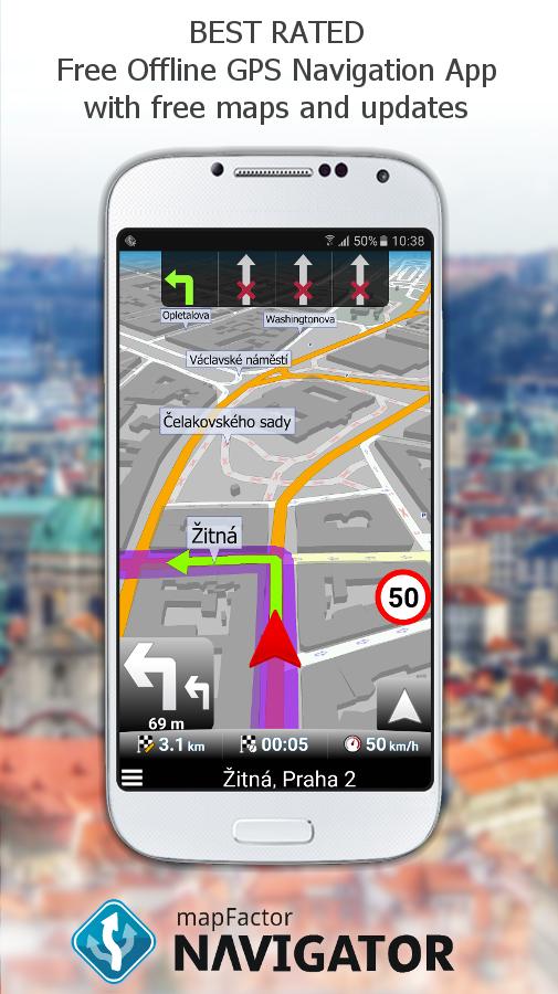 Cloud_download Download Apk File  C B Mapfactor Gps Navigation Maps Screenshot