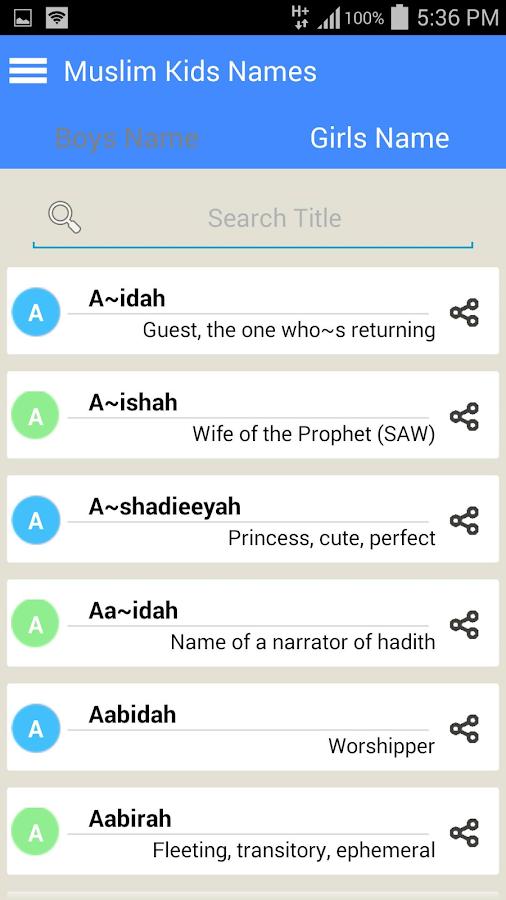 2015 Muslim Baby Names