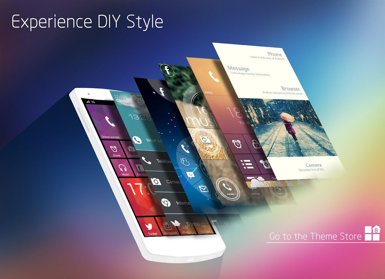 Launcher 8 WP Style 349 Screenshot 1