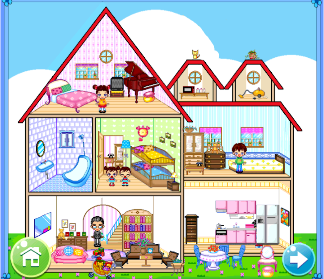 House Drawing Kids Rooms