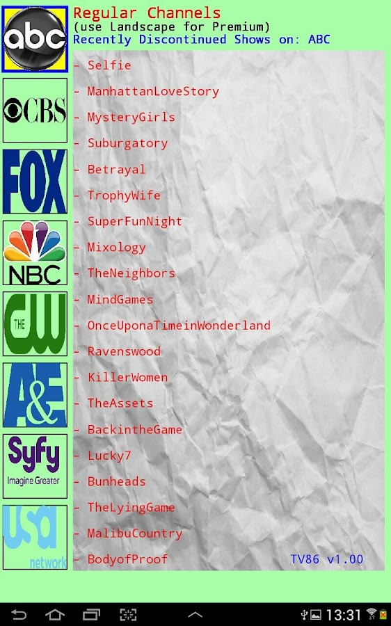 Discontinued TV Shows 1 0 APK Download - Android Entertainment Apps