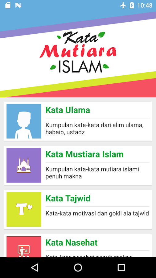 Kata Mutiara Islam 10 Apk Download Android Social التطبيقات