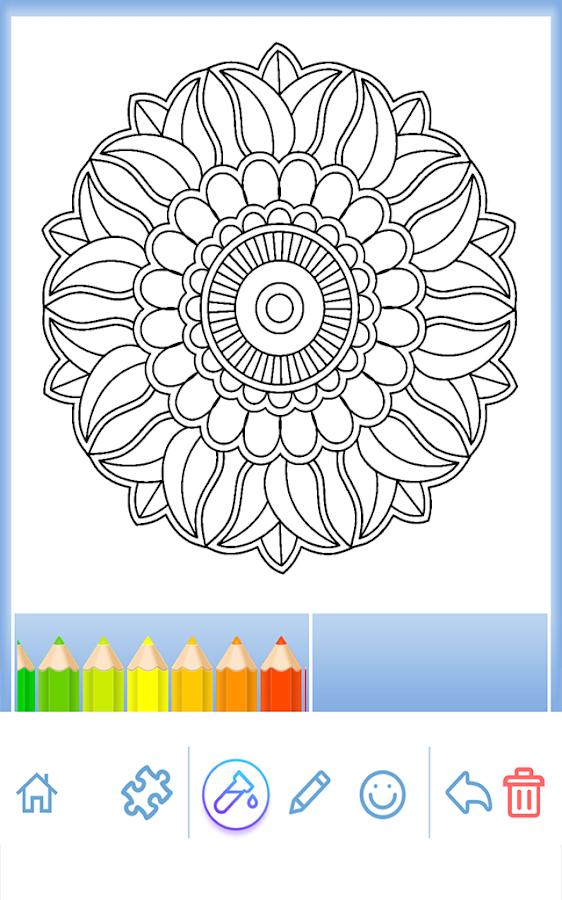 Flowers Mandala Coloring Book Screenshot 3
