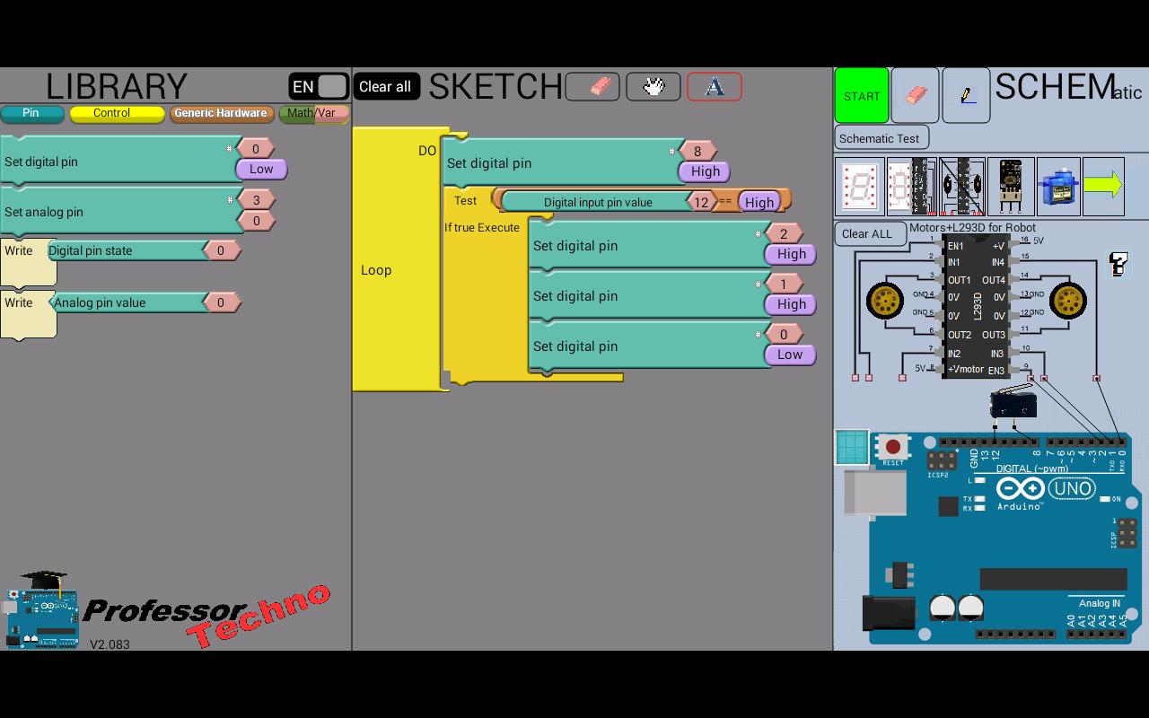 دانلود proftechno arduino simulator apk برنامه های