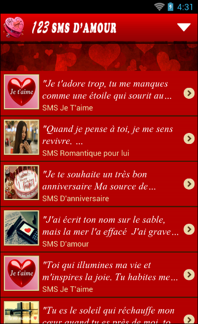 Connu 123 SMS d'amour 2.6 APK Download - Android Books & Reference Apps EW74